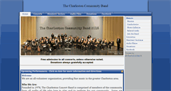 Preview of charlestoncommunityband.org