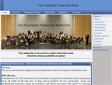Tablet Preview of charlestoncommunityband.org